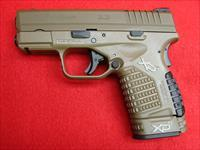 Springfield Armory XDs - 45acp - 3.3 - Full Dark Earth - Fiber Optic Sights
