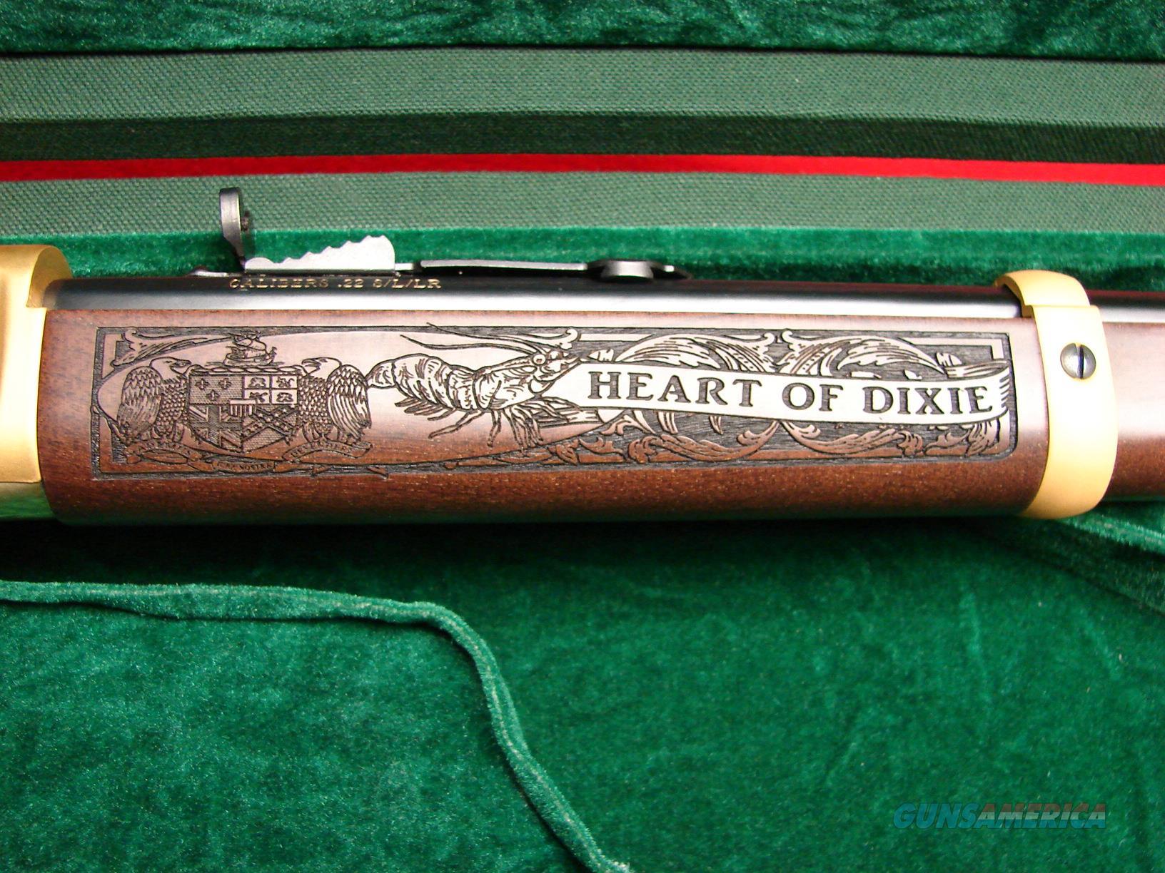 Henry Golden Boy - Alabama 200th Bicentennial Anniversary Rifle - 22LR -  24kt Gold Finish