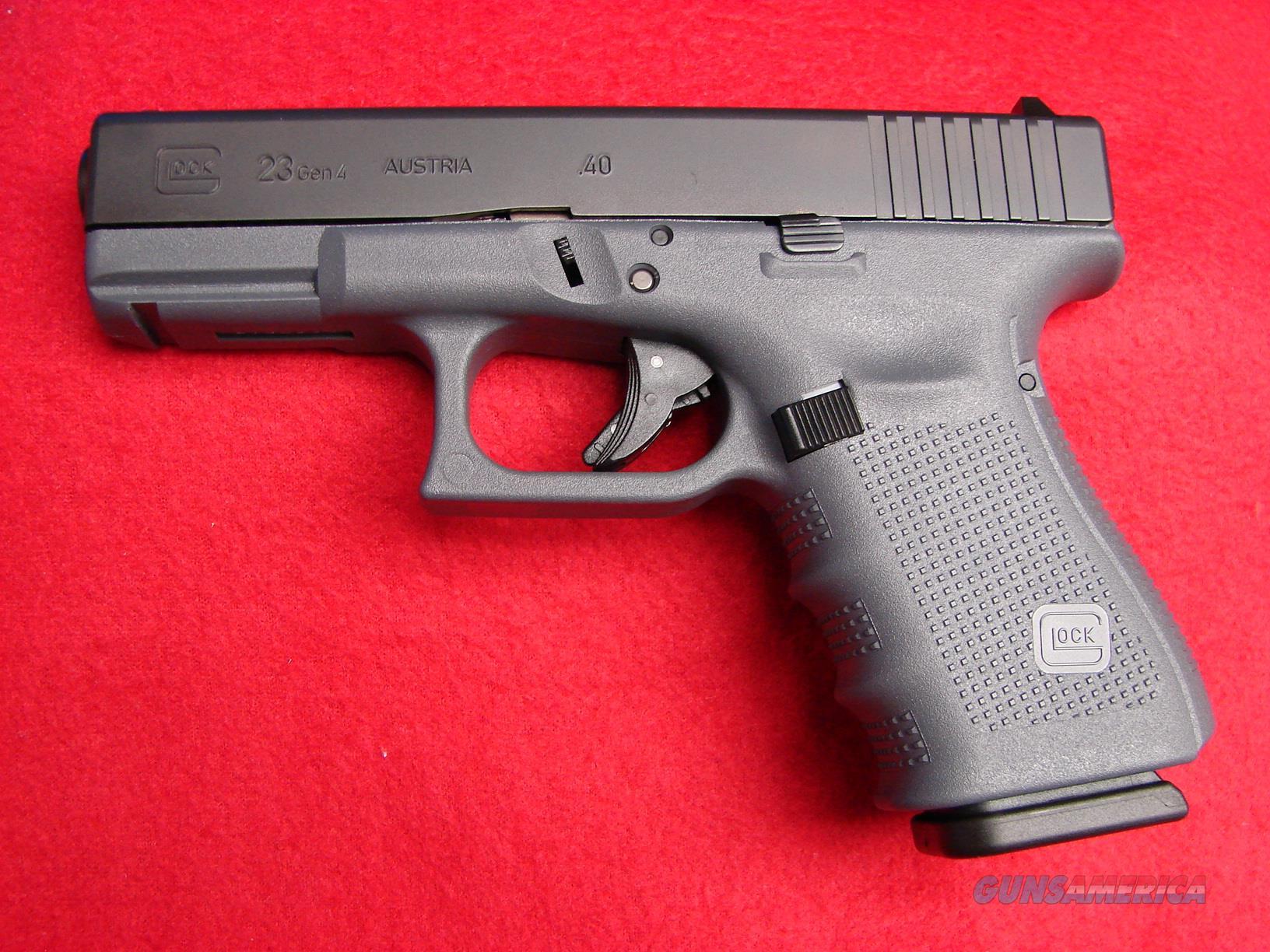 Glock 23 - 40 cal - Gen 4 - Gray Frame/Black Sl... for sale
