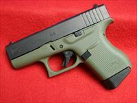 New Glock 43 - 9mm in Battlefield Green Frame w/ Black Slide