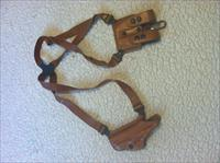 Galco Shoulder Holster!! Tan Leather Miami Vice style