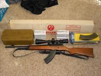MINT 1990 Ruger Mini 30 7.62 NIB NEVER SHOT with 800+rounds 5 mags Rail Scope Strap Muzzle Break OBO