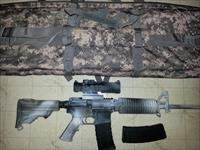 DPMS 5.56mm Winter Camo AR/M4 with Burris 5x Lit reticle tactical scope