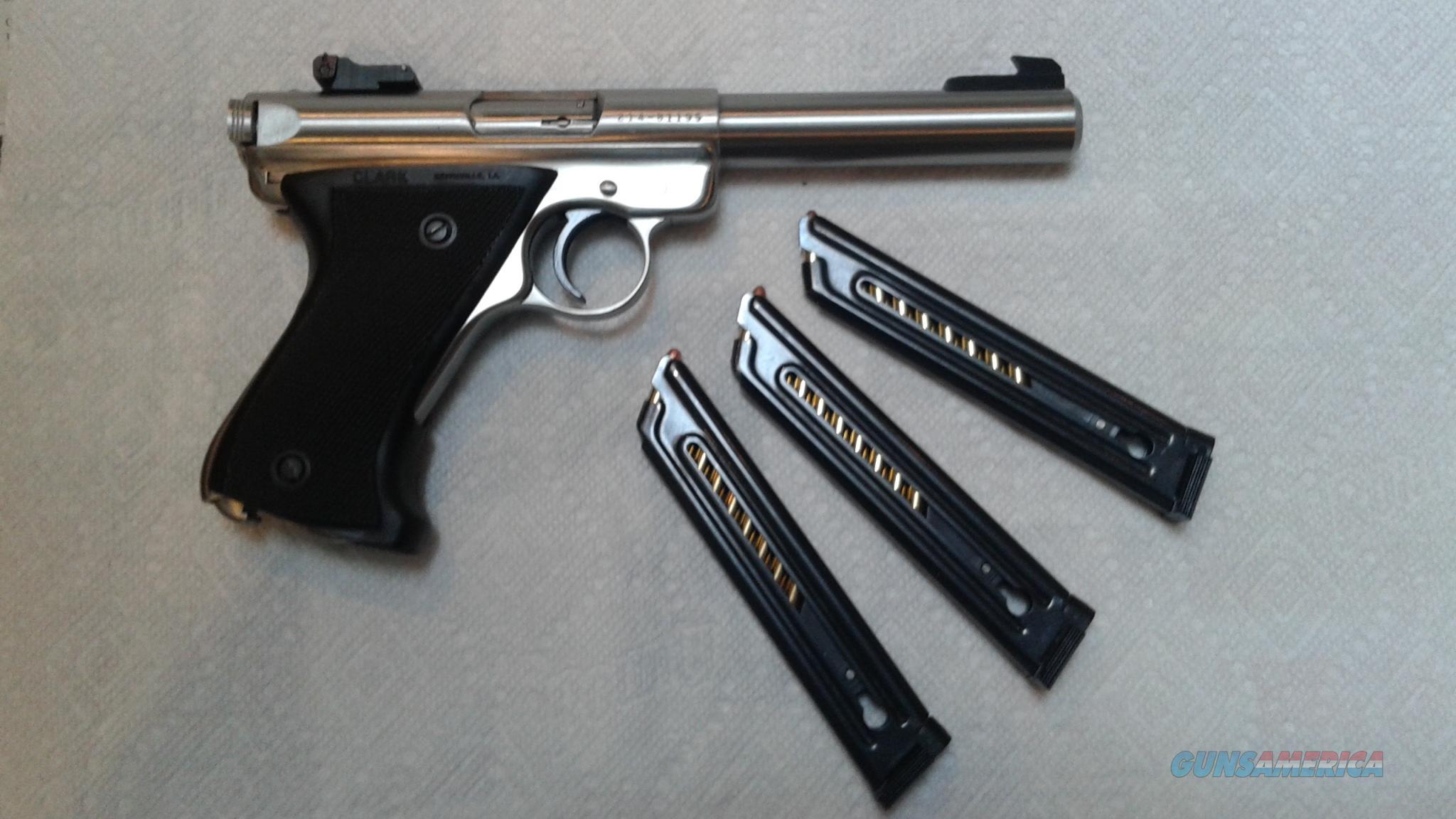 Ruger Mark II SS 5 1 2 Bull Barrel Target Pistol Guns Pistols