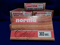 8 Boxes Norma Factory 303 British Ammunition
