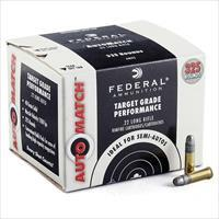 650 ROUNDS .22LR FEDERAL AUTOMATCH TARGET AMMUNITION 22 LONG RIFLE 40 GRAIN LEAD ROUND NOSE 22 LR