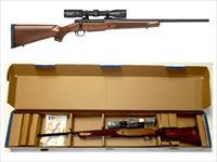 "Mossberg Patriot Scoped Combo Bolt Action Rifle .30-06 22"" Fluted Barrel 4 Rounds Walnut Stock Matte Blued with Vortex 3-9x40 Model: 27942 UPC: 047700270401"