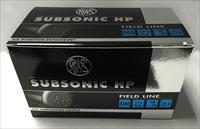 RWS .22LR SUBSONIC 500 ROUNDS RUAG 22 40GR HOLLOW POINT LONG RIFLE