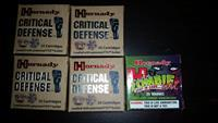 150 cartiges 9 mm= 100 cartriges of 9mm Hornady Critical Defense Ammunition 9mm 115 Grain Flex Tip eXpanding  + 50 cartriges hornady zombie