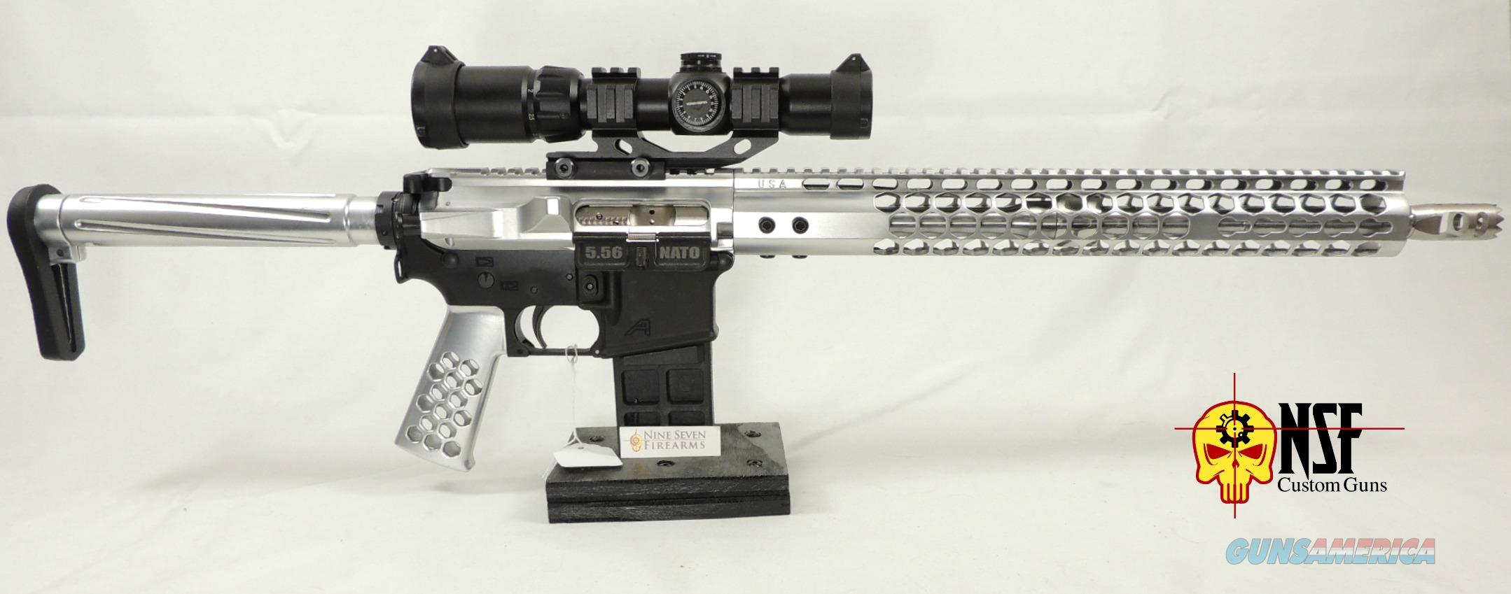 Limited Edition Polished Aluminum AR-15 NSF Custom Guns 5 56 Rifle 223