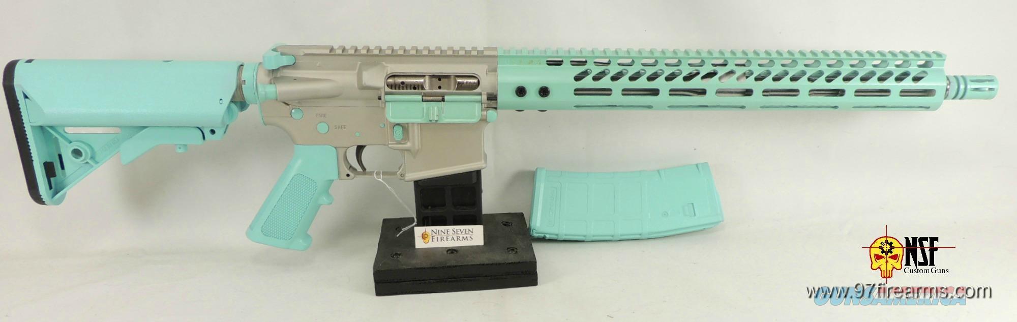 NSF Custom Guns, Robins Egg Cerakote, AR-15, SS Barrel, FZ BCG