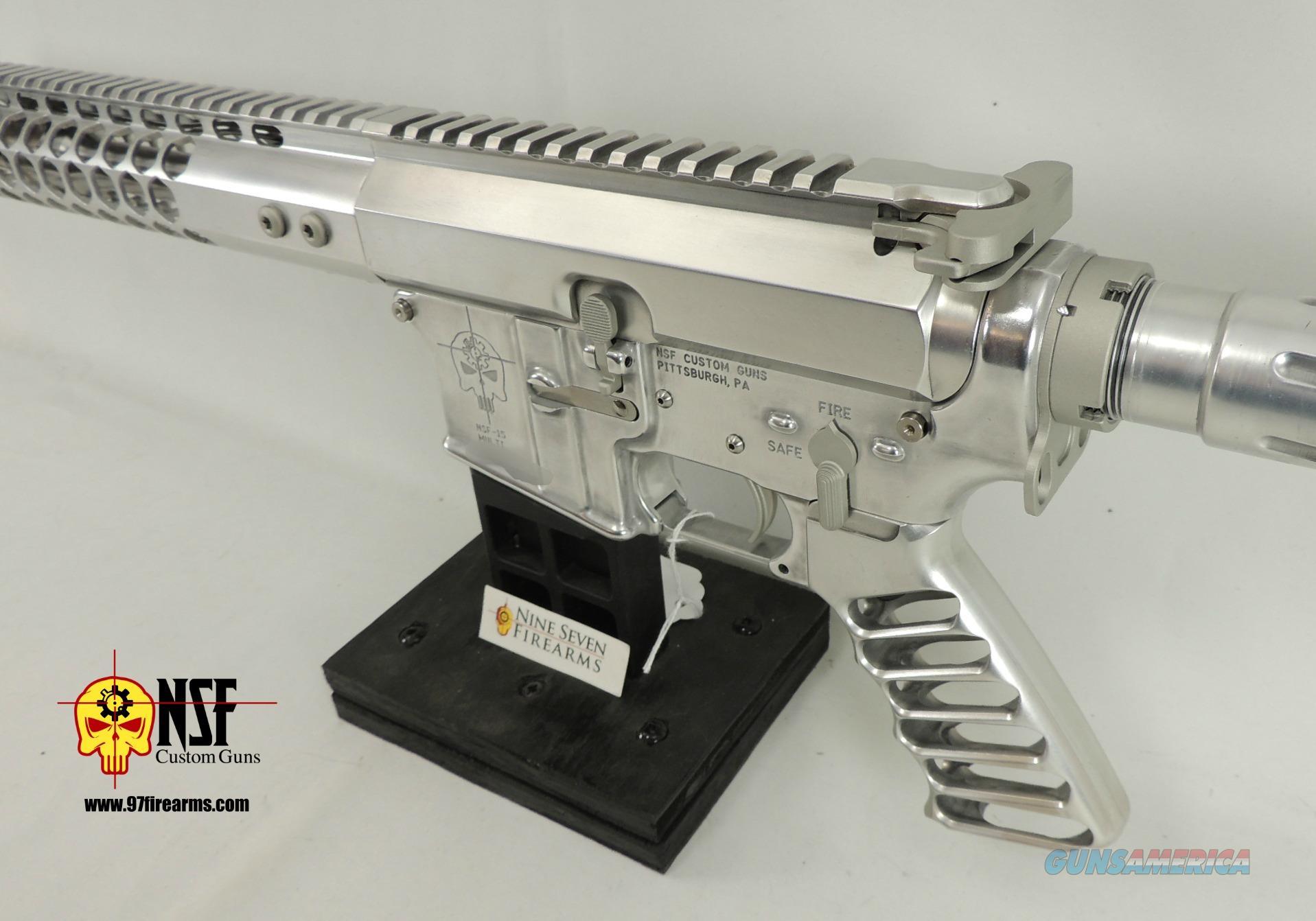 Polished Aluminum AR-15, Nickel BCG, SS Barrel, NSF Custom Guns
