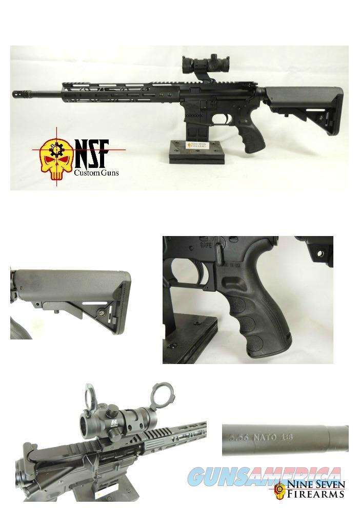 NSF Custom guns AR 15, Free Float handguard, red dot optic, Upgraded  Buttstock and Grip 160095