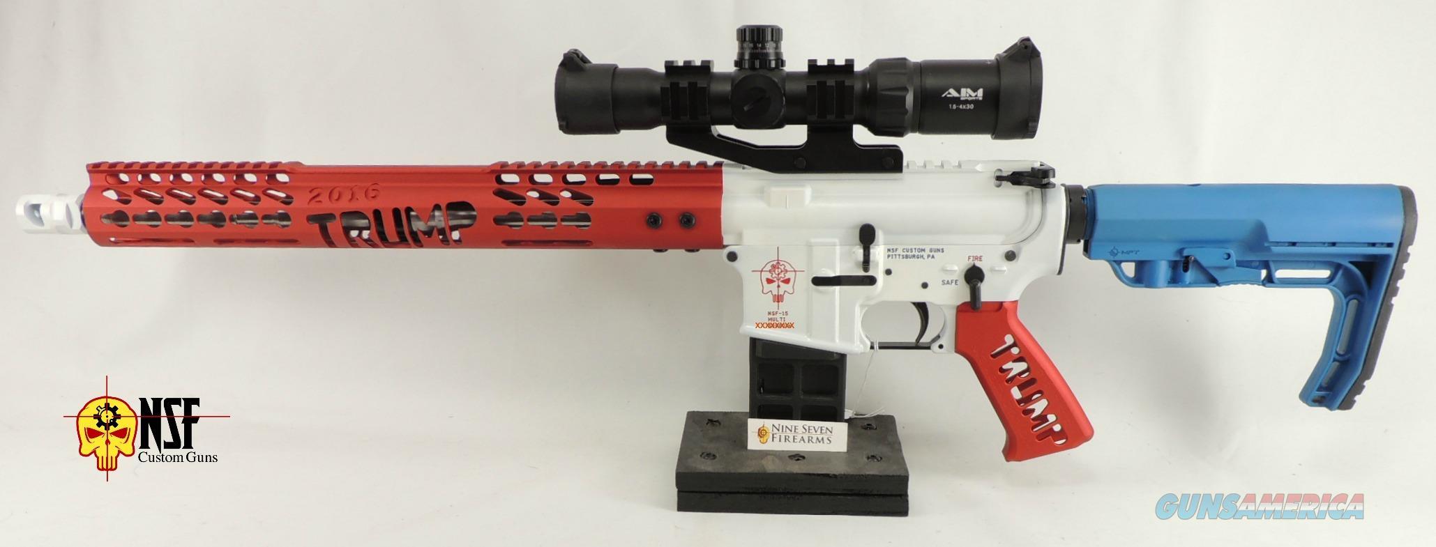 Custom Cerakoted Red, White, and Blue AR-15, Stainless Barrel, NSF Custom  Guns