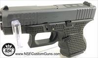 Glock G26 Gen 4 SUBCOMPACT | 9x19 | Cerakoted Slide | Front Serrations | Laser Stippled Frame