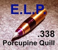 Five ELP .338 HDF 222gr Quill Projectiles