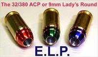 Ten 380 ACP's w/ELP MHPF Lady's Round Projectiles