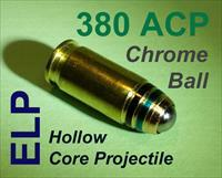 Ten 380 ACP's w/ELP SS Bic Round Projectile