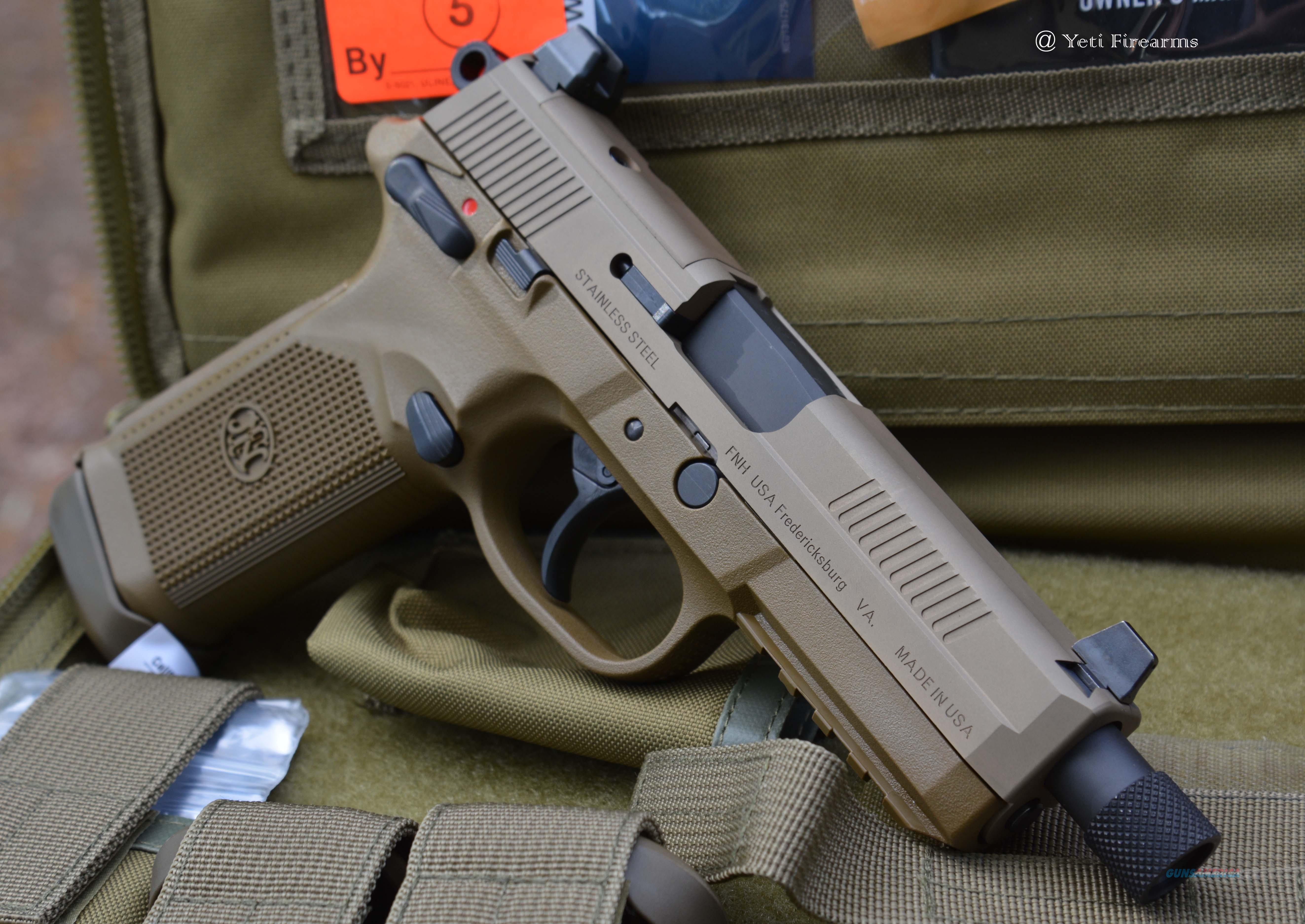 FNH FNX-45 TACTICAL .45ACP THREADED BARREL BLK