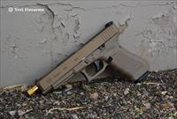 X-Werks Glock 34 G4 MOS Magpul FDE Burnt Bronze S3F Solutions Threaded Barrel TiN 9mm 1/2x28 TB