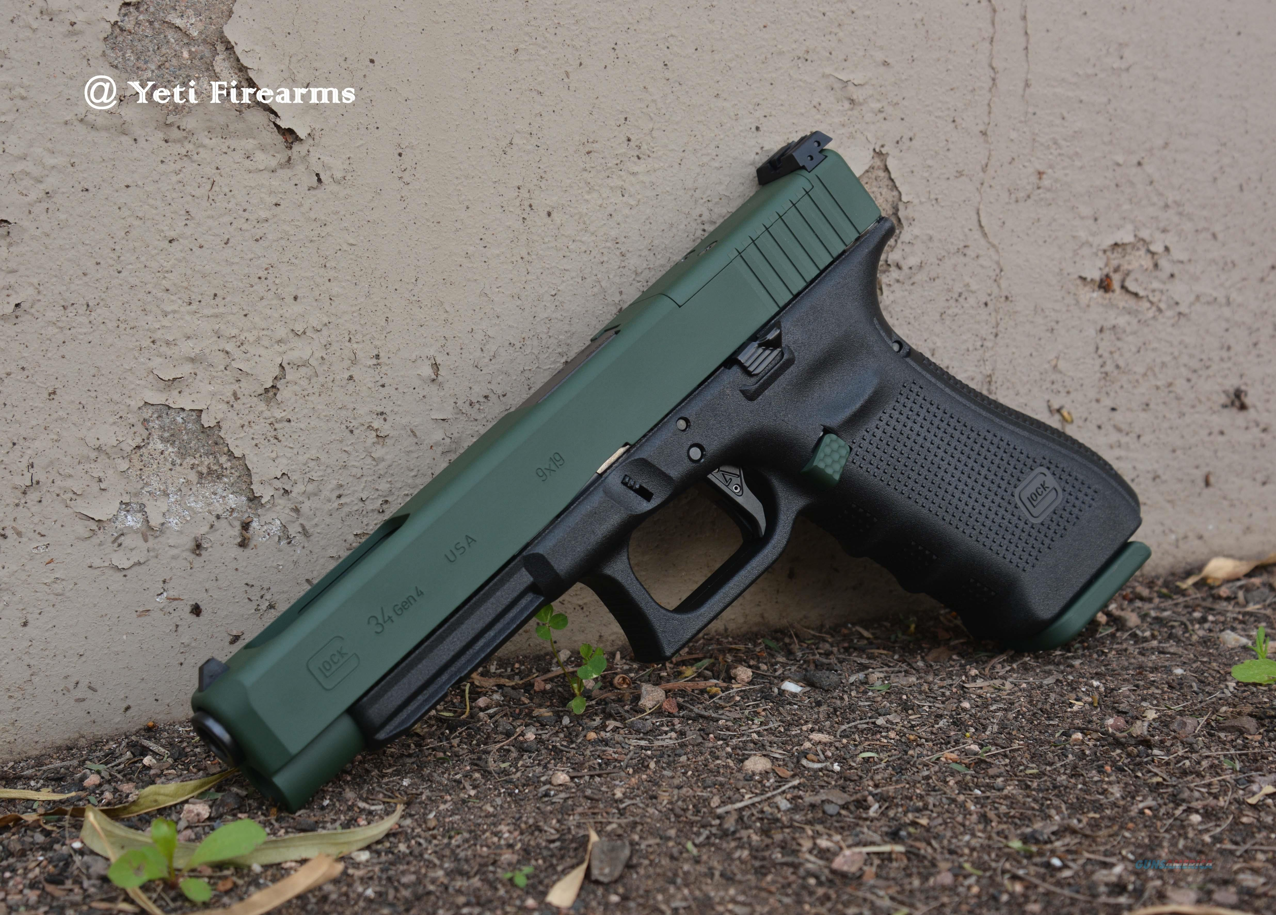 X Werks 2 Ton Green Glock 34 G4 Mos 9mm Agency For Sale