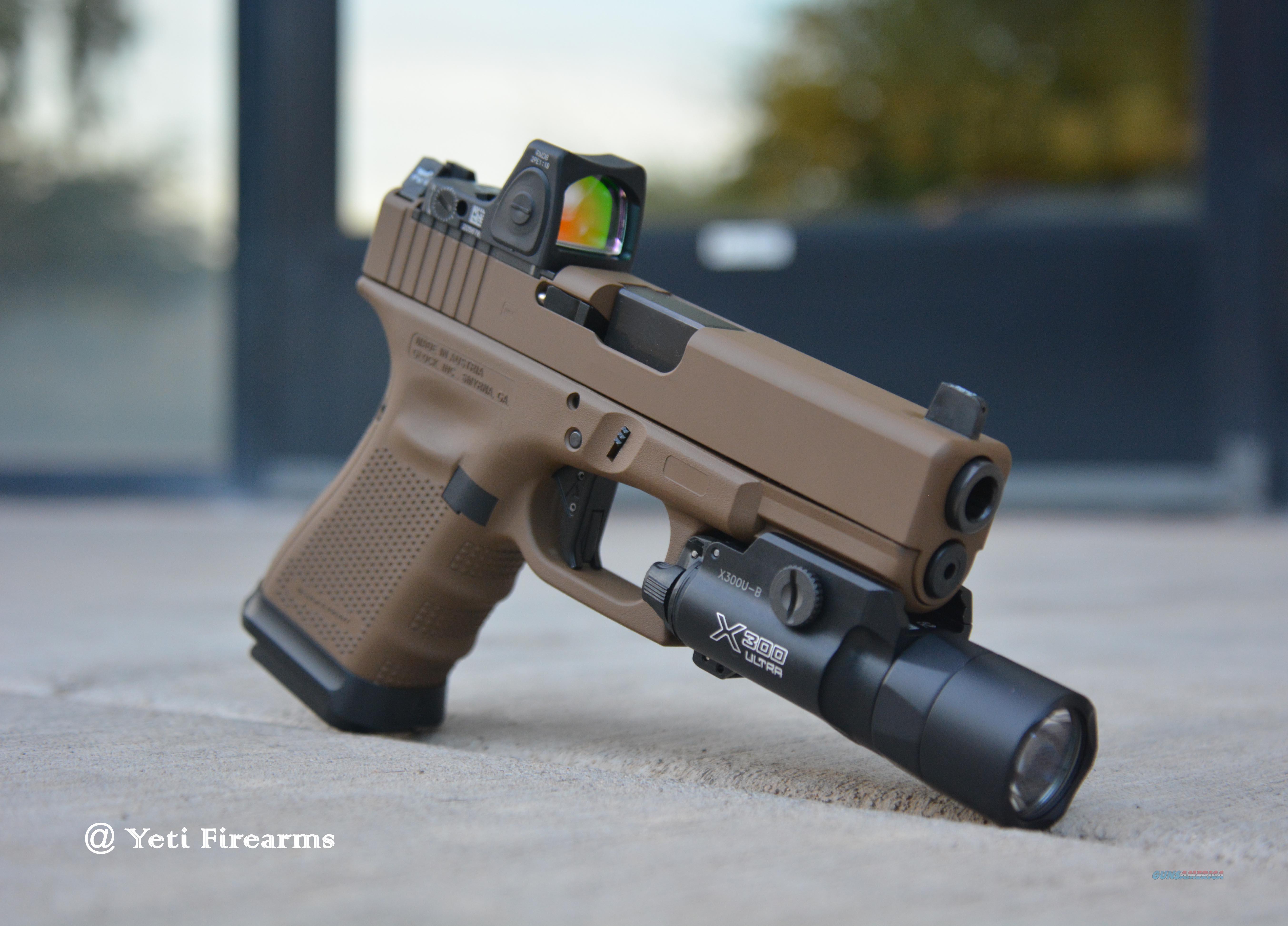 X-Werks Glock 19 G4 MOS 9mm Glock FDE 15rnd