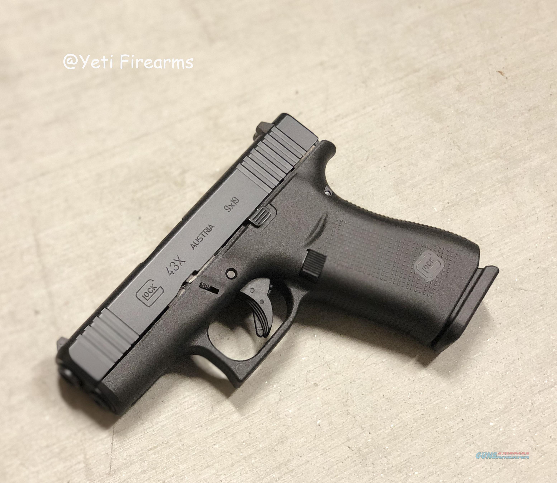 Glock 43X 9mmm Black Slide No CC Fee 43 X 2 Mags