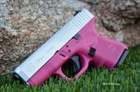 X-Werks Glock 26 G4 9mm Raspberry Pink and Satin Aluminum No CC Fee!