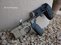 X-Werks Mega Arms Pistol AR-15 Lower Maxim Stock M0210 Forged Coyote Tan 5.56mm Brace Gator