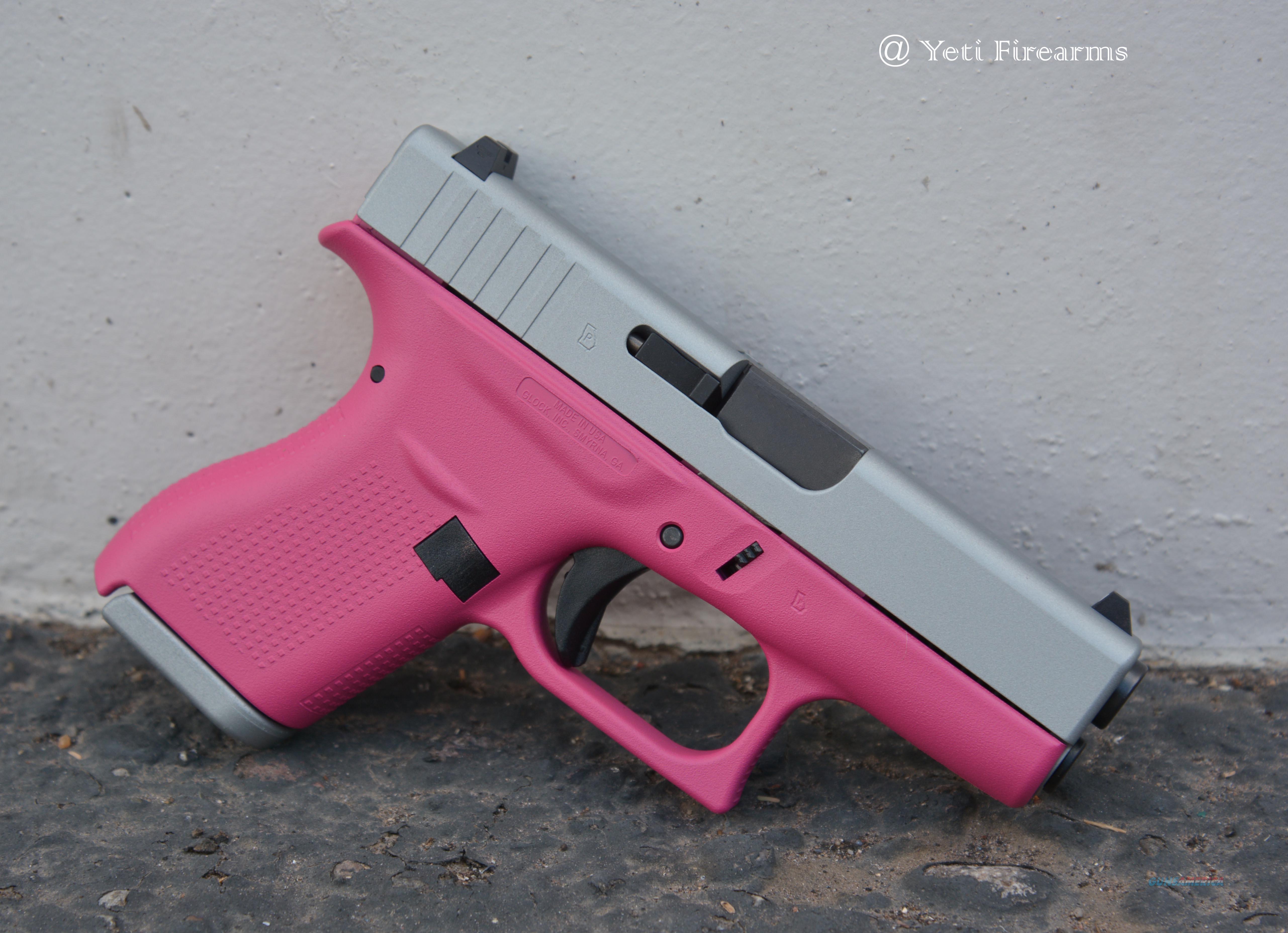 X-Werks Glock 42  380 Satin Mag Raspberry Pink