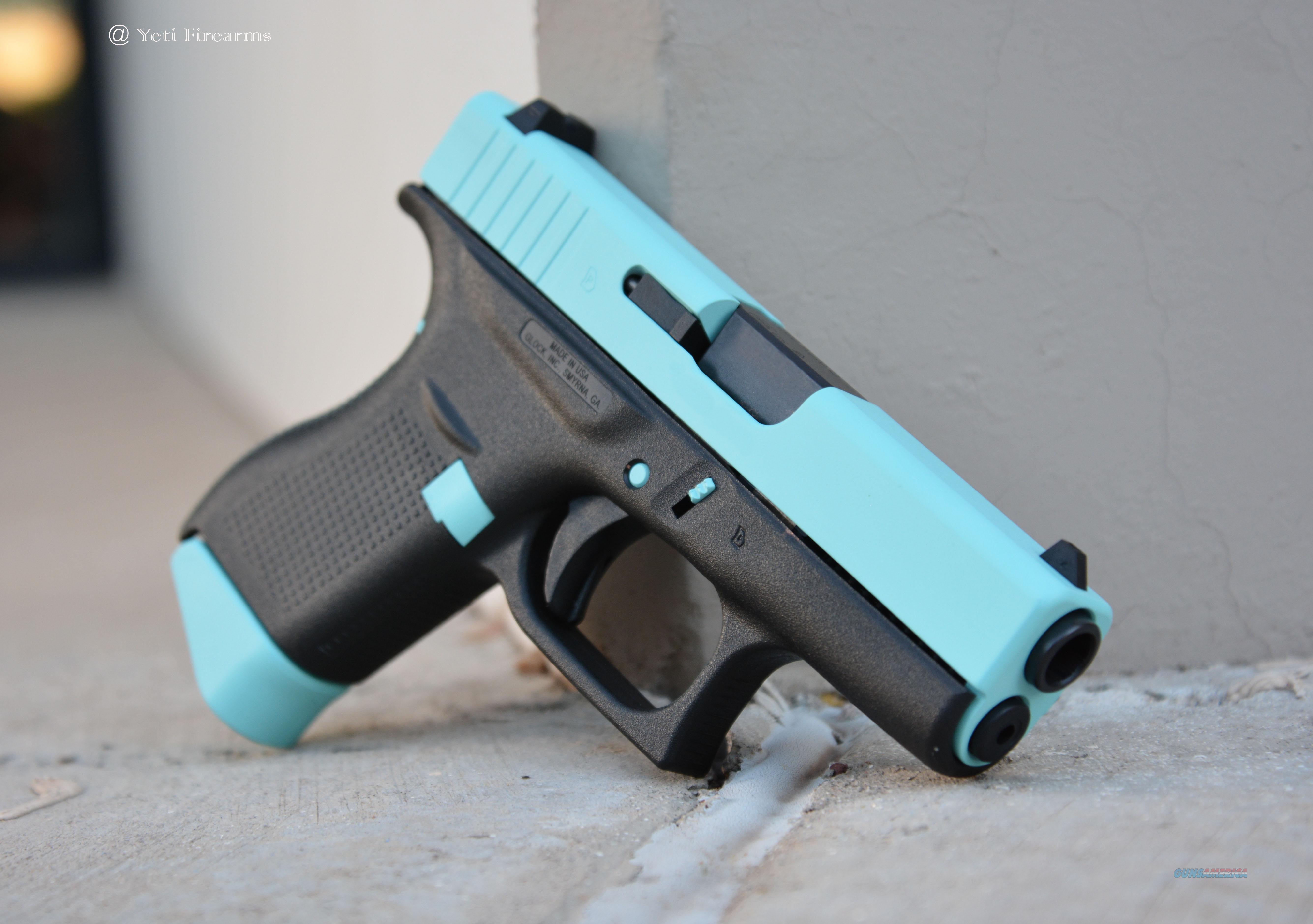 X-Werks Glock 42 robin's egg blue Slide 3 Mags  380