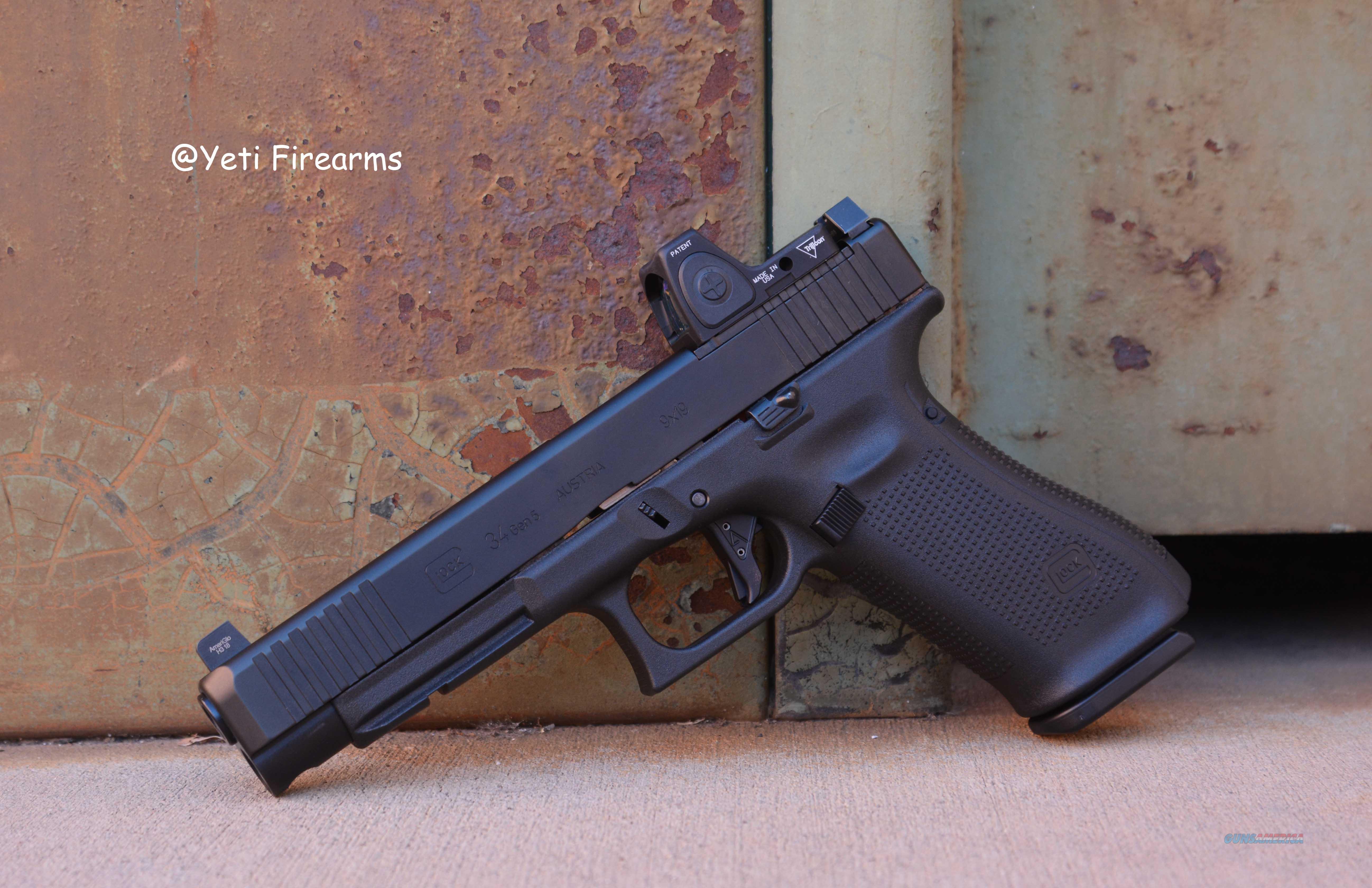 Glock 34 G5 MOS 9mm W/ Agency Arms, NS, RMR RM06