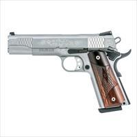 "Smith and Wesson Model SW1911 Engraved .45 ACP 5"" 8+1 Pistol Includes Wooden Presentation Case 10270 022188867824"