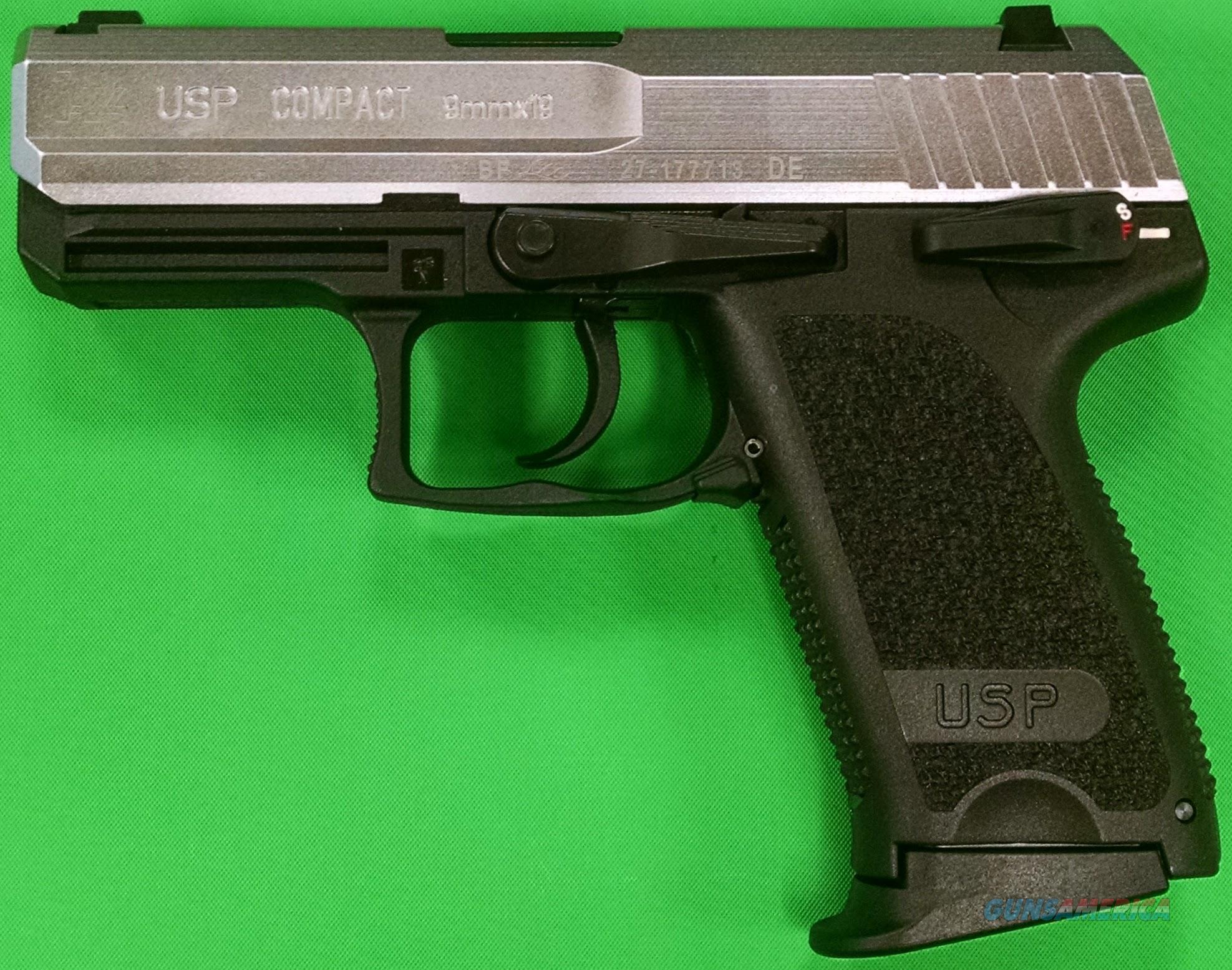 HK USP 9 Compact V1 9mm Stainless Steel Slide 9... for sale