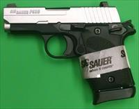 Sig Sauer P938 BRG 2-Tone 9mm Single Stack Pistol  938-9-TSS-BRG-AMBI  798681539208