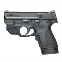 Smith and Wesson M&P40 Shield Compact Handgun with Crimson Trace Green Laser Laserguard 10147