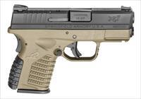 "Springfield Armory XDS .45 ACP 3.3"" Pistol FDE Grip XDS93345DEE 706397901646"