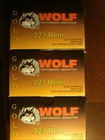 .223 WOLF GOLD AMMO (BRASS CASE) 100 ROUNDS