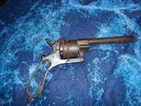"Pinfire About .45 Caliber 6 Shot  Revolver with 5 1/2"" barrel. No Trigger or Works for Parts or Rebuild Possibly  Lefaucheux  From mid 1800s"