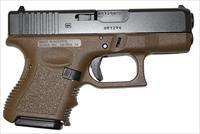 "Glock  G26 9mm 3.46"" 10+1 Fixed Sights Poly Grip/Frame Flat Dark Earth **FINANCING/LAY-AWAY AVAILABLE!! NO CREDIT CHECK! CONTACT US FOR DETAILS** CHECK OUT OUR OTHER ITEMS AVAILABLE**"