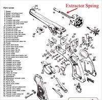 Webley Mark VI Extractor Spring (new manufacture)