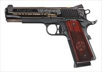 "Sig Sauer 1911 Limited Edition Texas Engraved Polished Blue w/Gold Inlay 5"" 8 Shot!"