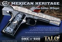 Colt Special Edition 1911 TALO Engraved Mexican Heritage 1 of 400 38SUP 9+1 (O2991MHE)!