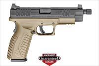 "SPRINGFIELD ARMORY XDM 4.5"" 9MM PISTOL  19 RND FDE THREADED BARREL XDMT9459FDEHCE"