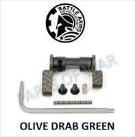 BATTLE ARMS OLIVE DRAB OD BAD-ASS AMBIDEXTROUS SAFETY SELECTOR 90 DEG BLACK STD/SHORT