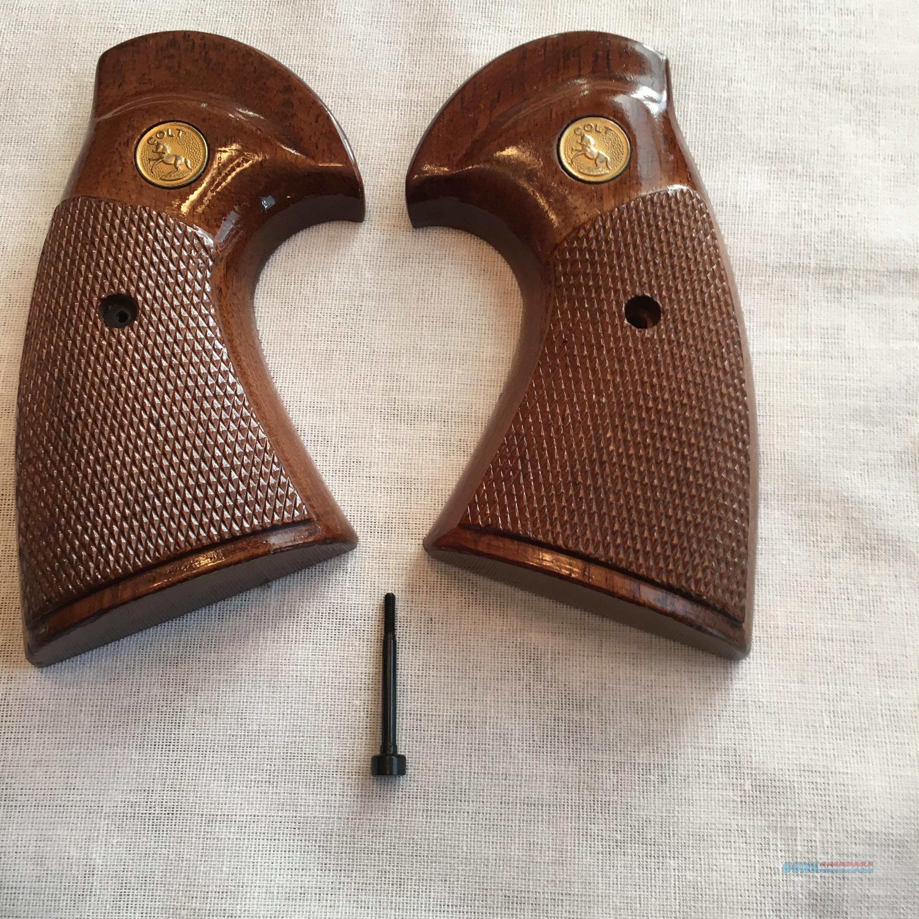 COLT PYTHON FACTORY WOOD GRIPS for sale