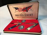 CASE XX CIVIL WAR COMMEMORATIVE KNIFE SET