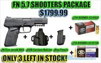 FN Five seveN MKII Shooters Package (range ammo, defense ammo, holster, mag pouch)