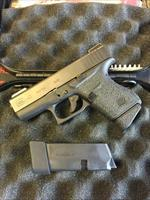 NIB GLOCK 43 with Tru Glow Night Sights and grip tape & 2 rnd extended mag