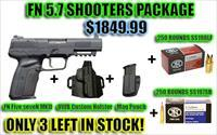NIB FN Five seveN MKII BLK Shooters Package w/ ammo SS198LF & SS197SR, Holster and Mag Pouch